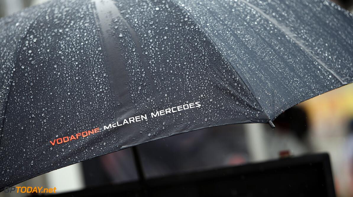 A Vodafone McLaren Mercedes umbrella