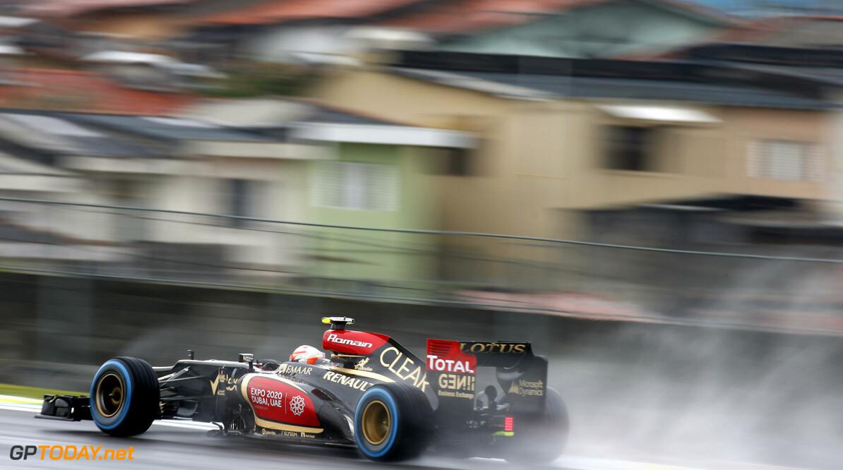 Interlagos, Sao Paulo, Brazil. Friday 22th November 2013. Romain Grosjean, Lotus E21 Renault.   Photo: Glenn Dunbar/Lotus F1 Team.  ref: Digital Image _89P2096 Brazilian Grand Prix - Friday     f1 formula 1 formula one gp grand prix brazil