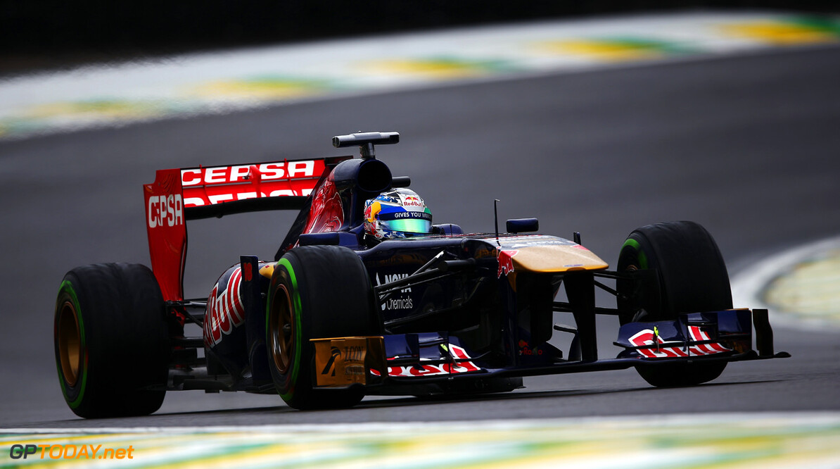 166989444XX00213_F1_Grand_P SAO PAULO, BRAZIL - NOVEMBER 23:  Jean-Eric Vergne of France and Scuderia Toro Rosso drives during qualifying for the Brazilian Formula One Grand Prix at Autodromo Jose Carlos Pace on November 23, 2013 in Sao Paulo, Brazil.  (Photo by Clive Mason/Getty Images) *** Local Caption *** Jean-Eric Vergne F1 Grand Prix of Brazil - Qualifying Clive Mason Sao Paulo Brazil  Interlagos
