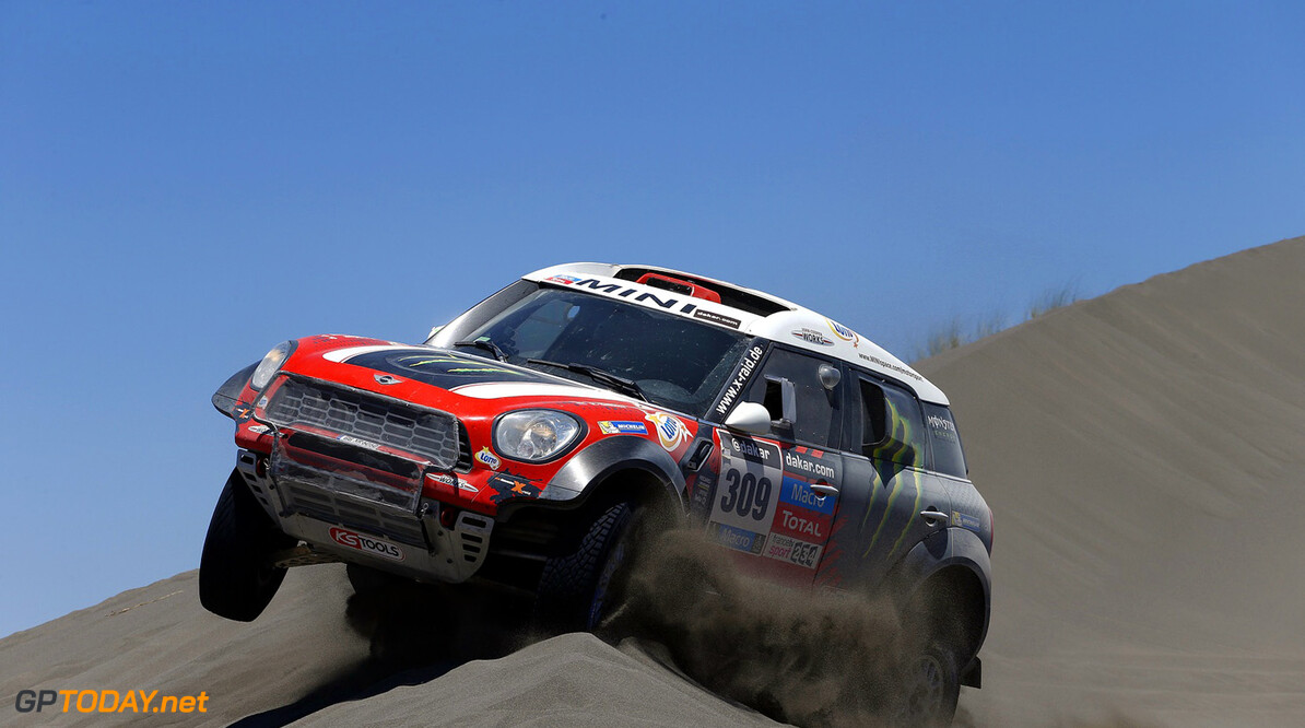 MOTORSPORT - DAKAR ARGENTINA BOLIVIA CHILE  2014 - STAGE 2 / ETAPE 2 - SAN LUIS  (ARG) - SAN RAFAEL (ARG) - 06/01/2014 - PHOTO FREDERIC LE FLOCH / DPPI - 309	HOLOWCZYC KRZYSZTOF (POL) / ZHILTSOV KONSTANTIN - MINI - ACTION MOTORSPORT -  DAKAR 2014 PART 1 FREDERIC LE FLOCH SAN LUIS ARGENTINA  2014 ARGENTINA ARGENTINE Auto Car CHILE CHILI DAKAR MOTOR Motorsport OFF ROAD OFFROAD rally RALLY RAID RALLYE RALLYE RAID RALLYRAID Sport VERIFICATION TECHNIQUE SCRUTINER ETAPE 1 FIRST DAY DEPART START