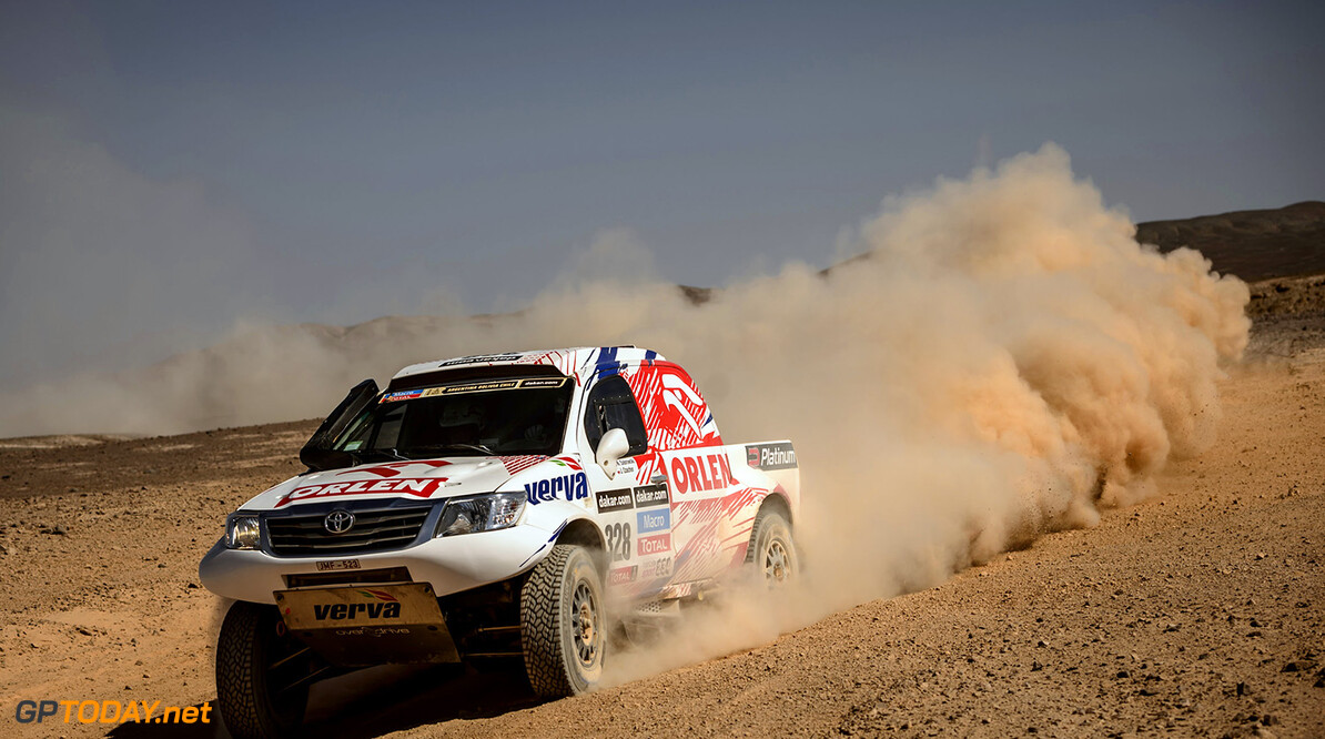 Jacek Czachor (driver) and Marek Dabrowski (co-driver) race during the 11th stage of Dakar Rally from Antofagasta to El Salvador, Chile on January 16th, 2014 // Marcelo Maragni/Red Bull Content Pool // P-20140116-00279 // Usage for editorial use only // Please go to www.redbullcontentpool.com for further information. // Jacek Czachor - Action  Antofagasta Chile  P-20140116-00279