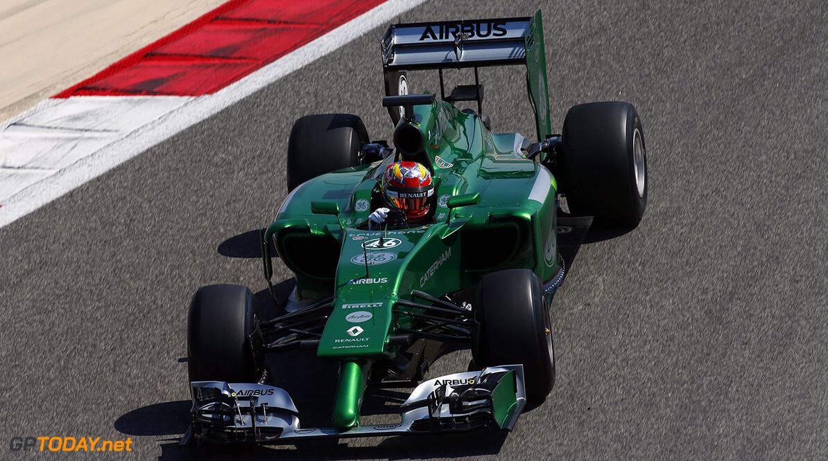 2014 F1 Pre Season Test 2 - Day 1 Bahrain International Circuit, Bahrain. Wednesday 19 February 2014. Robin Frijns, Caterham CT05 Renault. World Copyright: Glenn Dunbar/LAT Photographic. ref: Digital Image _W2Q1953      f1 formula 1 formula one testing test Action