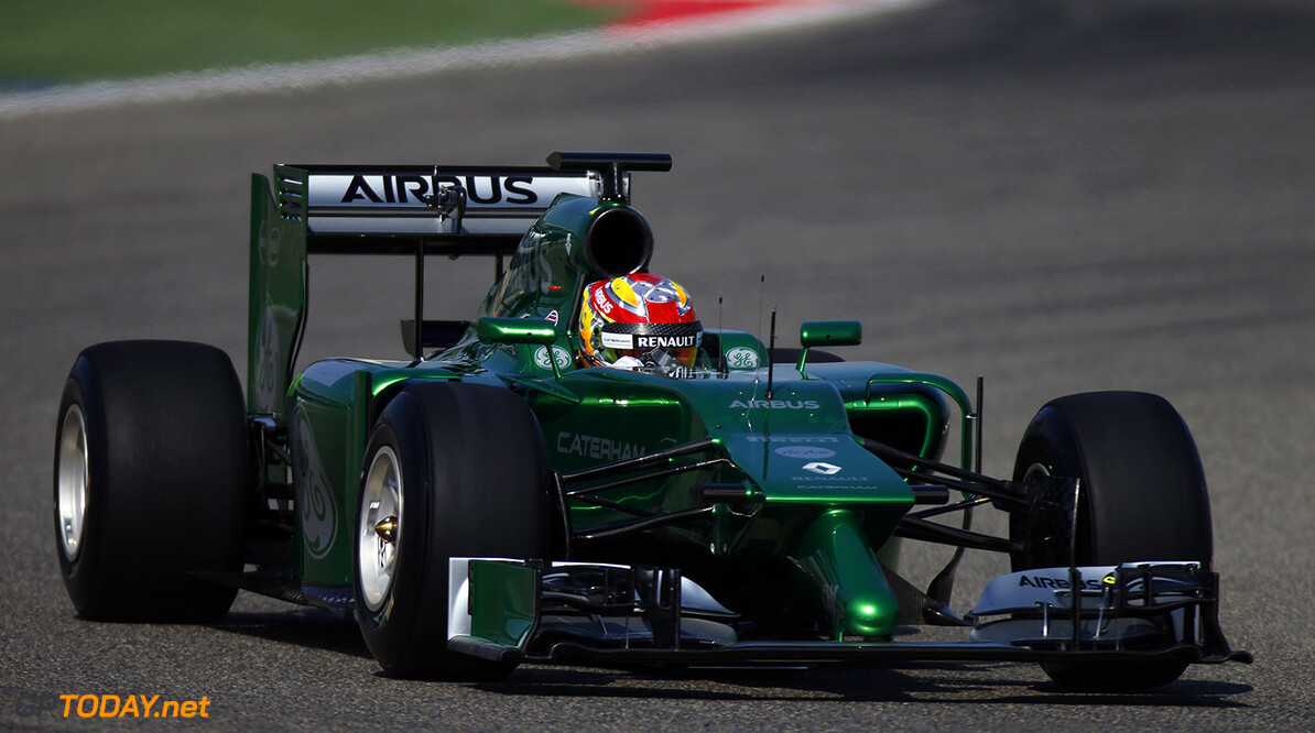 2014 F1 Pre Season Test 2 - Day 1 Bahrain Internanational Circuit, Bahrain. Wednesday 19 February 2014. Robin Frijns, Caterham CT05 Renault. World Copyright: Glenn Dunbar/LAT Photographic. ref: Digital Image _W2Q1530      f1 formula 1 formula one testing test Action