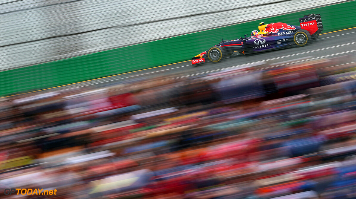 477191467KR00217_Australian MELBOURNE, AUSTRALIA - MARCH 16:  Daniel Ricciardo of Australia and Infiniti Red Bull Racing drives on his way to finishing second during the Australian Formula One Grand Prix at Albert Park on March 16, 2014 in Melbourne, Australia.  (Photo by Clive Mason/Getty Images) *** Local Caption *** Daniel Ricciardo Australian F1 Grand Prix - Race Clive Mason Melbourne Australia  Formula One Racing formula 1 Auto Racing Formula 1 Australian Grand Prix Australian Formula One Grand Prix Formula One Grand Prix Australia F1 Grand Prix