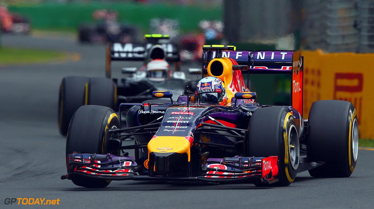 477191467KR00147_Australian MELBOURNE, AUSTRALIA - MARCH 16:  Daniel Ricciardo of Australia and Infiniti Red Bull Racing drives on his way to finishing second during the Australian Formula One Grand Prix at Albert Park on March 16, 2014 in Melbourne, Australia.  (Photo by Robert Cianflone/Getty Images) *** Local Caption *** Daniel Ricciardo Australian F1 Grand Prix - Race Robert Cianflone Melbourne Australia  Formula One Racing formula 1 Auto Racing Formula 1 Australian Grand Prix Australian Formula One Grand Prix Formula One Grand Prix Australia F1 Grand Prix