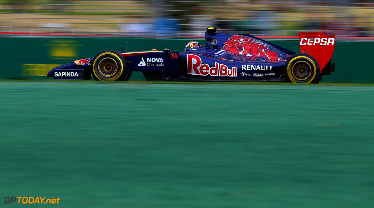 477191425KR00179_Australian MELBOURNE, AUSTRALIA - MARCH 15:  Daniil Kvyat of Russia and Scuderia Toro Rosso drives during qualifying for the Australian Formula One Grand Prix at Albert Park on March 15, 2014 in Melbourne, Australia.  (Photo by Clive Mason/Getty Images) *** Local Caption *** Daniil Kvyat Australian F1 Grand Prix - Qualifying Clive Mason Melbourne Australia  Formula One Racing formula 1 Auto Racing Formula 1 Australian Grand Prix Australian Formula One Grand Prix Formula One Grand Prix Australia F1 Grand Prix