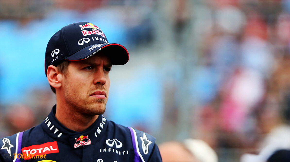 477191467KR00052_Australian MELBOURNE, AUSTRALIA - MARCH 16:  Sebastian Vettel of Germany and Infiniti Red Bull Racing attends the drivers parade before the Australian Formula One Grand Prix at Albert Park on March 16, 2014 in Melbourne, Australia.  (Photo by Mark Thompson/Getty Images) *** Local Caption *** Sebastian Vettel Australian F1 Grand Prix - Race Mark Thompson Melbourne Australia  Formula One Racing formula 1 Auto Racing Formula 1 Australian Grand Prix Australian Formula One Grand Prix Formula One Grand Prix Australia F1 Grand Prix SHELLGP SHELL GP