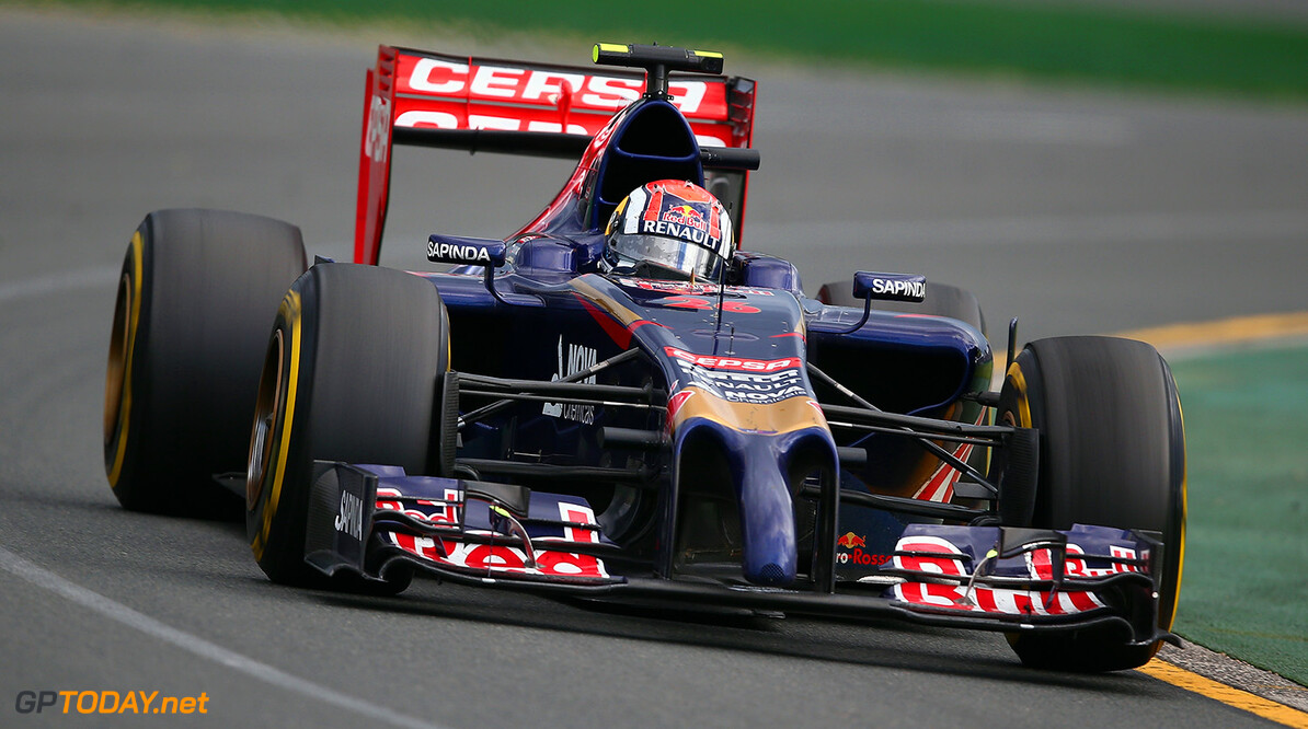 477191467KR00290_Australian MELBOURNE, AUSTRALIA - MARCH 16:  Daniil Kvyat of Russia and Scuderia Toro Rosso drives during the Australian Formula One Grand Prix at Albert Park on March 16, 2014 in Melbourne, Australia.  (Photo by Clive Mason/Getty Images) *** Local Caption *** Daniil Kvyat Australian F1 Grand Prix - Race Clive Mason Melbourne Australia  Formula One Racing formula 1 Auto Racing Formula 1 Australian Grand Prix Australian Formula One Grand Prix Formula One Grand Prix Australia F1 Grand Prix