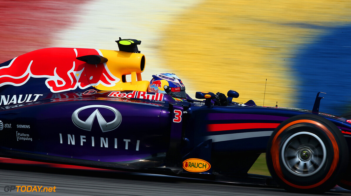 479868425KR00029_F1_Grand_P KUALA LUMPUR, MALAYSIA - MARCH 28:  Daniel Ricciardo of Australia and Infiniti Red Bull Racing drives during practice for the Malaysia Formula One Grand Prix at the Sepang Circuit on March 28, 2014 in Kuala Lumpur, Malaysia.  (Photo by Clive Mason/Getty Images) *** Local Caption *** Daniel Ricciardo F1 Grand Prix of Malaysia - Practice Clive Mason Kuala Lumpur Malaysia  Formula One Racing formula 1 Auto Racing Malaysia F1 Grand Prix Malaysian Formula One Grand Prix Formula One Grand Prix