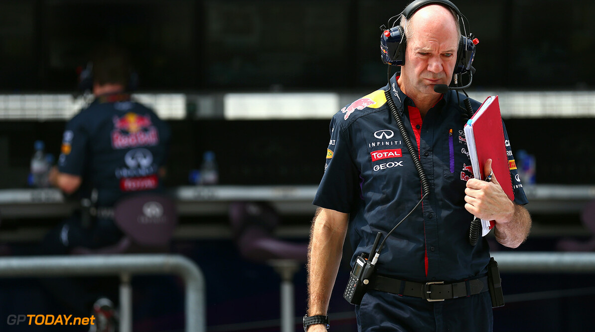 479868425KR00099_F1_Grand_P KUALA LUMPUR, MALAYSIA - MARCH 28:  Infiniti Red Bull Racing Chief Technical Officer Adrian Newey is seen on the pitwall during practice for the Malaysia Formula One Grand Prix at the Sepang Circuit on March 28, 2014 in Kuala Lumpur, Malaysia.  (Photo by Paul Gilham/Getty Images) *** Local Caption *** Adrian Newey F1 Grand Prix of Malaysia - Practice Paul Gilham Kuala Lumpur Malaysia  Formula One Racing formula 1 Auto Racing Malaysia F1 Grand Prix Malaysian Formula One Grand Prix Formula One Grand Prix