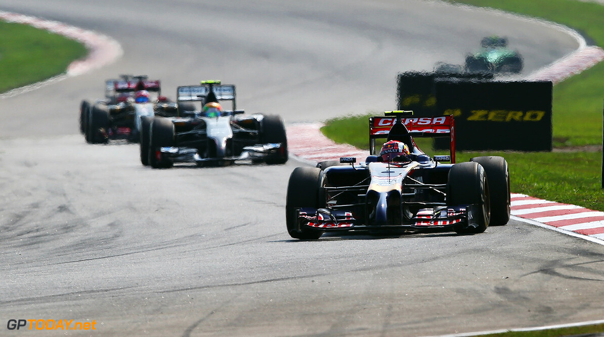 479868513KR00075_F1_Grand_P KUALA LUMPUR, MALAYSIA - MARCH 30:  Daniil Kvyat of Russia and Scuderia Toro Rosso drives during the Malaysia Formula One Grand Prix at the Sepang Circuit on March 30, 2014 in Kuala Lumpur, Malaysia.  (Photo by Clive Mason/Getty Images) *** Local Caption *** Daniil Kvyat F1 Grand Prix of Malaysia - Race Clive Mason Kuala Lumpur Malaysia  Formula One Racing formula 1 Auto Racing Malaysia F1 Grand Prix Malaysian Formula One Grand Prix Formula One Grand Prix