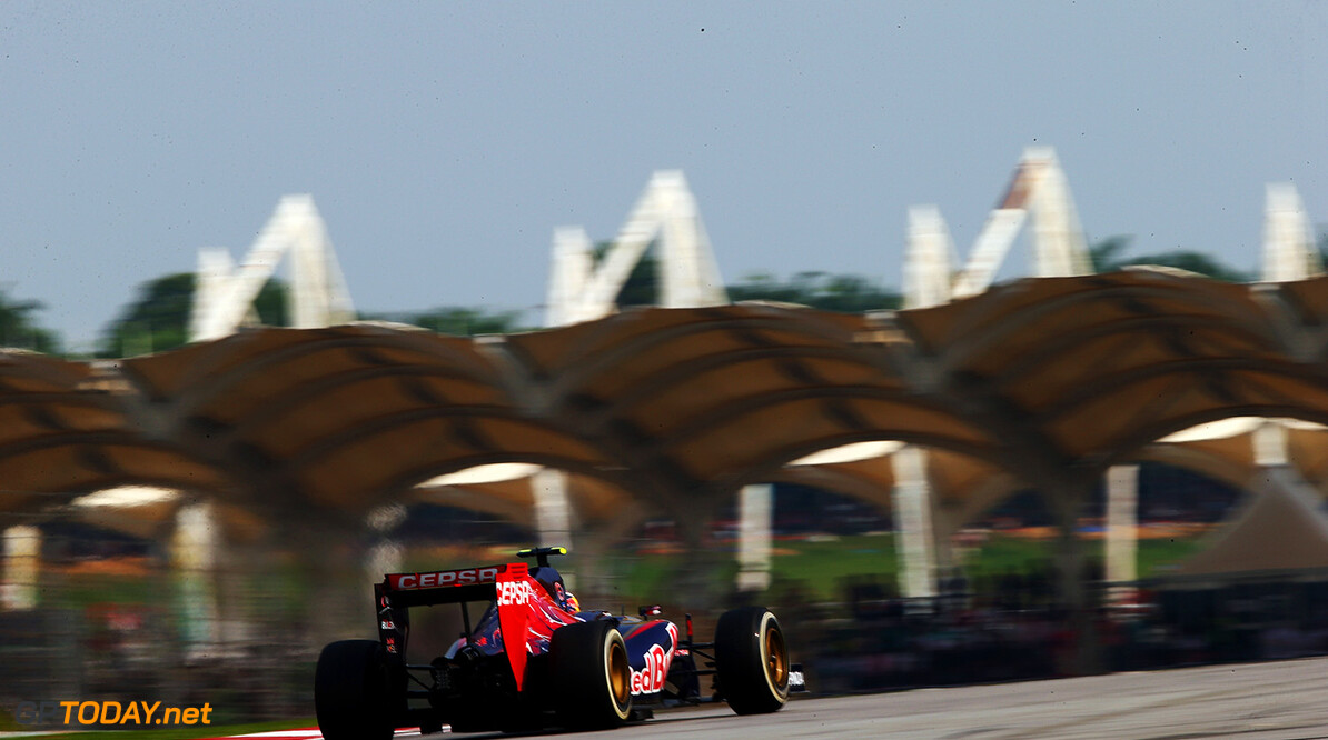 479868513KR00076_F1_Grand_P KUALA LUMPUR, MALAYSIA - MARCH 30:  Daniil Kvyat of Russia and Scuderia Toro Rosso drives during the Malaysia Formula One Grand Prix at the Sepang Circuit on March 30, 2014 in Kuala Lumpur, Malaysia.  (Photo by Clive Mason/Getty Images) *** Local Caption *** Daniil Kvyat F1 Grand Prix of Malaysia - Race Clive Mason Kuala Lumpur Malaysia  Formula One Racing formula 1 Auto Racing Malaysia F1 Grand Prix Malaysian Formula One Grand Prix Formula One Grand Prix