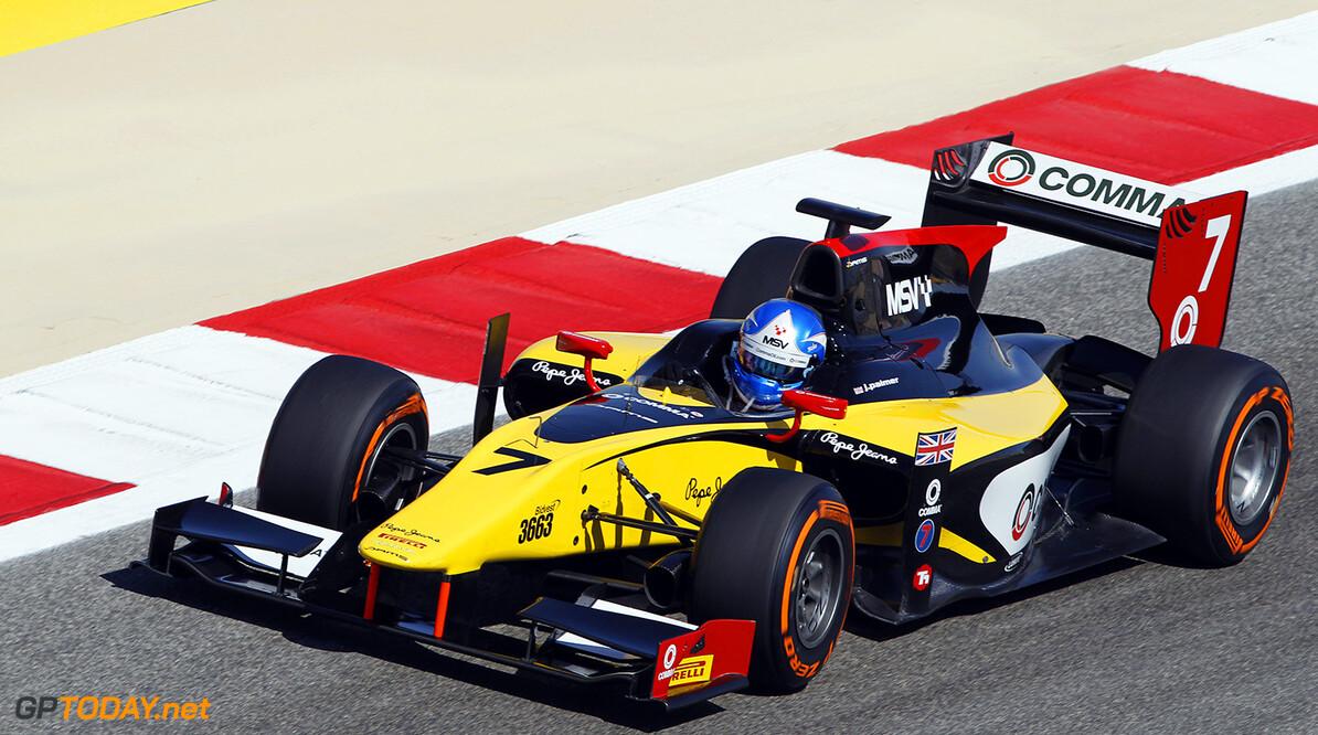 2014 GP2 Series Round 1 Bahrain International Circuit, Bahrain Sunday 6 April 2014. Jolyon Palmer (GBR, DAMS)  World Copyright: Sam Bloxham/LAT Photographic. ref: Digital Image _G7C3361  Sam Bloxham    Race Two