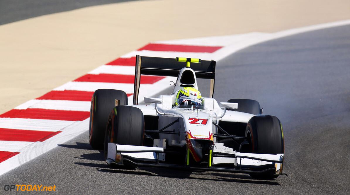 2014 GP2 Series Round 1 Bahrain International Circuit, Bahrain Saturday 5 April 2014. Kimiya Sato (JPN, Campos Racing)  World Copyright: Alastair Staley/LAT Photographic. ref: Digital Image _R6T0742  Alastair Staley    Race One