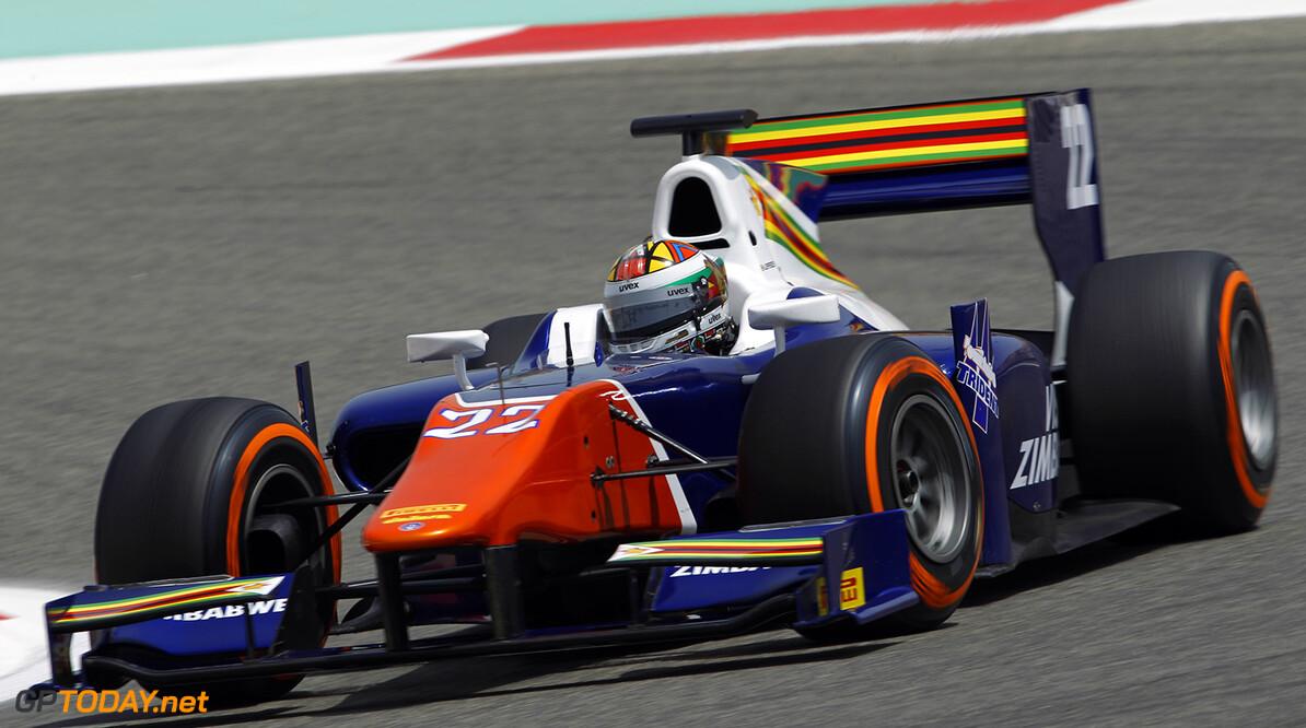 2014 GP2 Series Round 1 Bahrain International Circuit, Bahrain Friday 4 April 2014. Axcil Jefferies (ZIM, Trident)  World Copyright: Sam Bloxham/LAT Photographic. ref: Digital Image _G7C1458   Sam Bloxham    Practice
