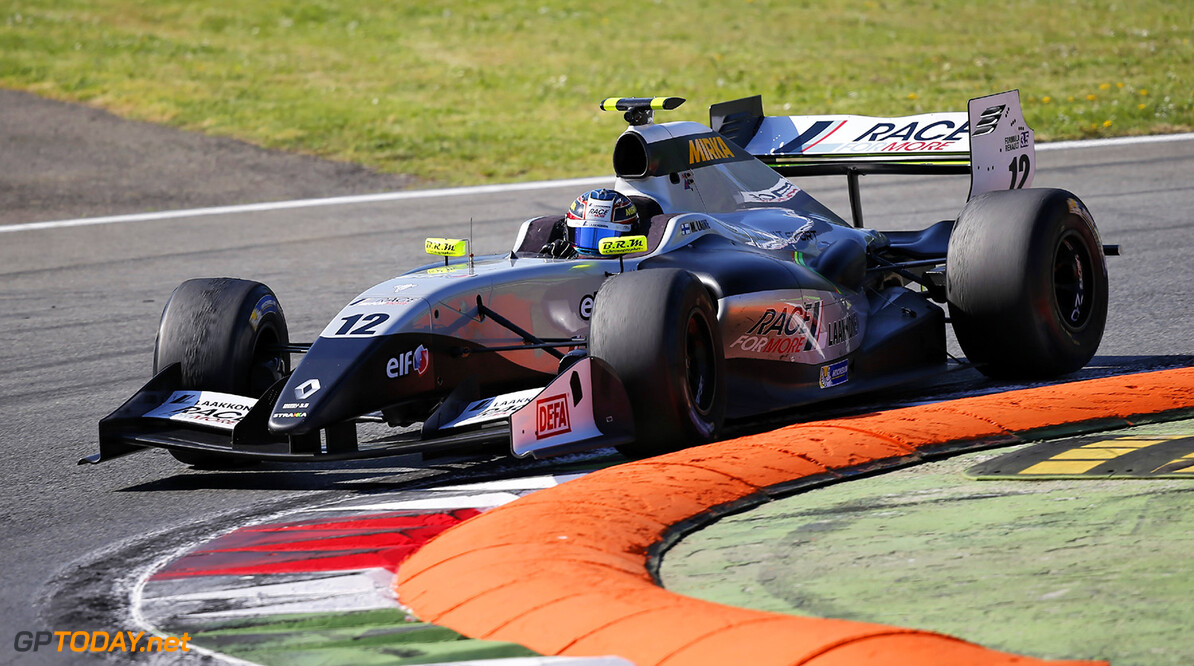 12, Matias Laine (Fin), Strakka Racing (Gbr), Action during the 2014  of World Series by Renault,  FR 35 race on April 13, 2014 in Monza, Italy. Photo Alexandre Guillaumot / DPPI AUTO - WSR FR 3.5 MONZA 2014 ALEXANDRE GUILLAUMOT MONZA ITALIE  Auto Car FR Formula Renault FR 3.5 MONOPLACE Motorsport Race UNIPLACE WSR WORLD SERIES BY RENAULT 2014 APRIL AVRIL