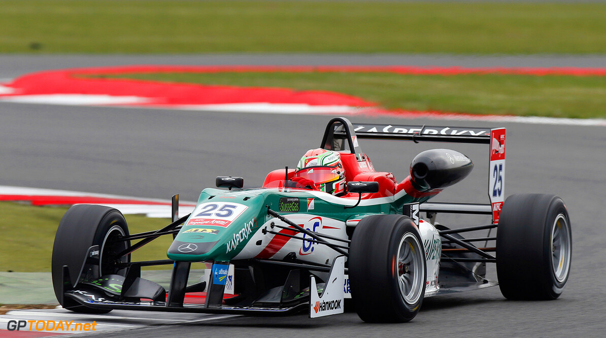 FIA Formula 3 European Championship, round 1, race 3, Silverston 25 Antonio Fuoco (ITA, Prema Powerteam, Dallara F312 - Mercedes), FIA Formula 3 European Championship, round 1, race 3, Silverstone (GBR) - 18. - 20. April 2014 FIA Formula 3 European Championship, round 1, race 3, Silverstone (GBR) Thomas Suer Silverstone Great Britain