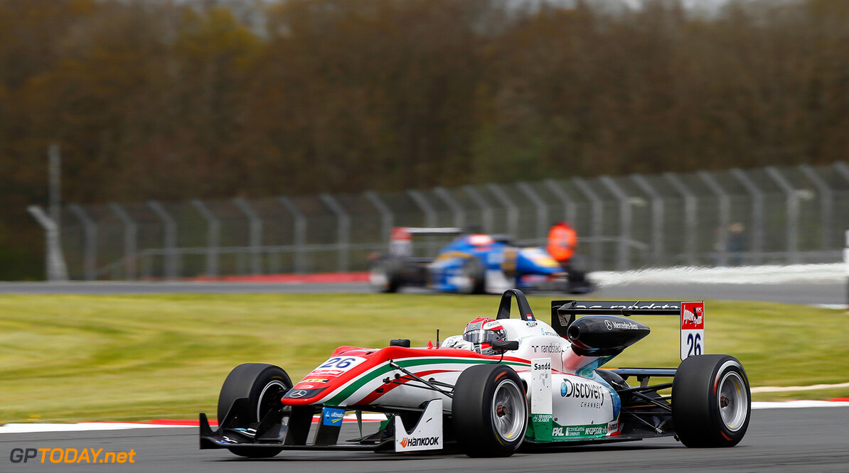 FIA Formula 3 European Championship, round 1, race 2, Silverston 26 Dennis Van de Laar (NLD, Prema Powerteam, Dallara F312 - Mercedes), FIA Formula 3 European Championship, round 1, race 2, Silverstone (GBR) - 18. - 20. April 2014 FIA Formula 3 European Championship, round 1, race 2, Silverstone (GBR) Thomas Suer Silverstone Great Britain