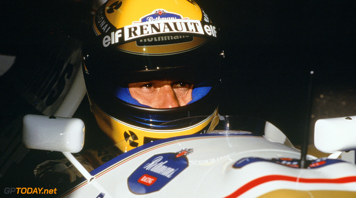 1994 Formula One World Championship Ayrton Senna in the cockpit of the Williams FW16-Renault. Portrait.