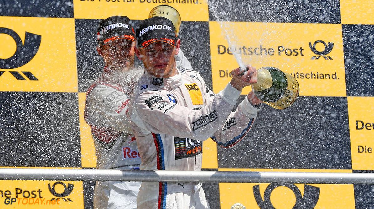 www.hoch-zwei.net Motorsports / DTM 1. race Hockenheim  #23 Marco Wittmann (GER, BMW Team RMG, BMW M4 DTM),  Motorsports / DTM 1. race Hockenheim HOCH ZWEI Hockenheim Germany  Partner01 partner02 Partner03 Sieger - champion    Freude - joy    Jubel - celebration    Stimmung - mood    Siegerehrung - podium medal ceremony    Ehrung - honour    Personen - people    jubelt jubelnd celebrates freut freuend positiv Gewinner gewonnen