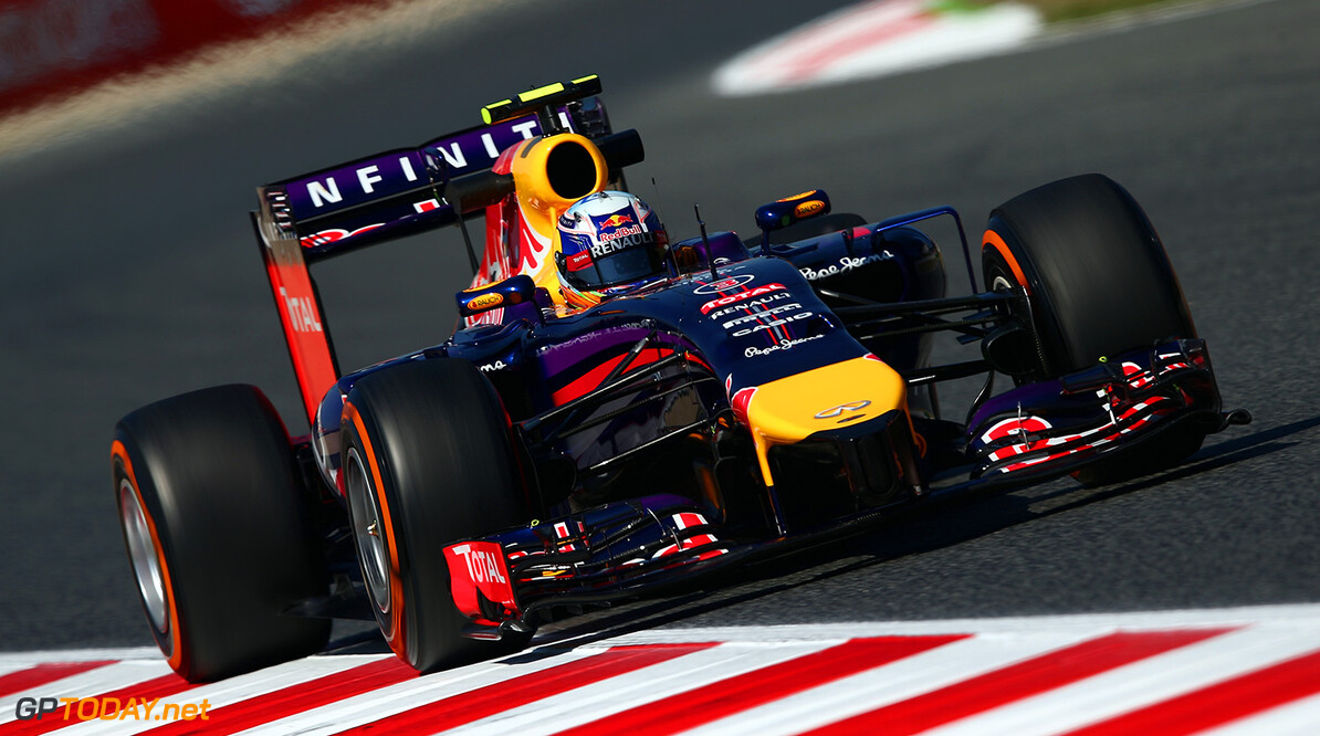 MONTMELO, SPAIN - MAY 09:  Daniel Ricciardo of Australia and Infiniti Red Bull Racing drives during practice ahead of the Spanish F1 Grand Prix at Circuit de Catalunya on May 9, 2014 in Montmelo, Spain.  (Photo by Clive Mason/Getty Images) *** Local Caption *** Daniel Ricciardo Spanish F1 Grand Prix - Practice Clive Mason Montmelo Spain  Formula One Racing formula 1 Auto Racing Spain F1 Grand Prix Spanish Formula One Grand Prix Formula One Grand Prix Barcelona