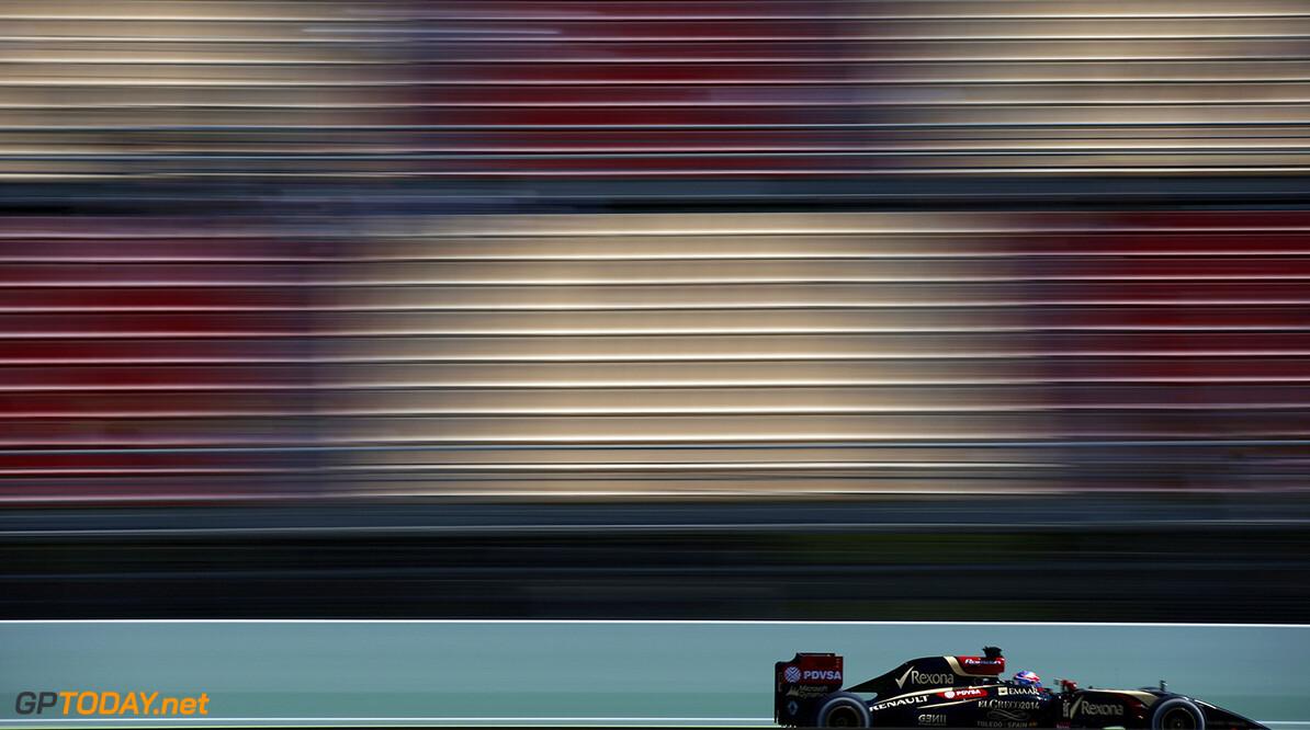 Circuit de Catalunya, Barcelona, Spain. Friday 9 May 2014. Romain Grosjean, Lotus E22 Renault. Photo: Glenn Dunbar/Lotus F1 Team. ref: Digital Image _89P4363      f1 formula 1 formula one gp grand prix Action