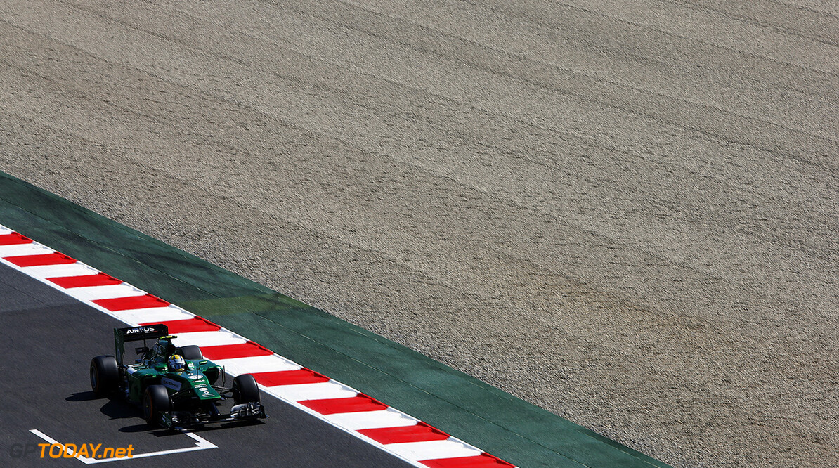 Circuit de Catalunya, Barcelona, Spain. Friday 9 May 2014. Marcus Ericsson, Caterham CT05 Renault. World Copyright: Charles Coates/LAT Photographic. ref: Digital Image _J5R9313      f1 formula 1 formula one gp grand prix
