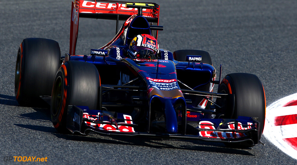 MONTMELO, SPAIN - MAY 09:  Daniil Kvyat of Russia and Scuderia Toro Rosso drives during practice ahead of the Spanish F1 Grand Prix at Circuit de Catalunya on May 9, 2014 in Montmelo, Spain.  (Photo by Clive Mason/Getty Images) *** Local Caption *** Daniil Kvyat Spanish F1 Grand Prix - Practice Clive Mason Montmelo Spain  Formula One Racing formula 1 Auto Racing Spain F1 Grand Prix Spanish Formula One Grand Prix Formula One Grand Prix Barcelona