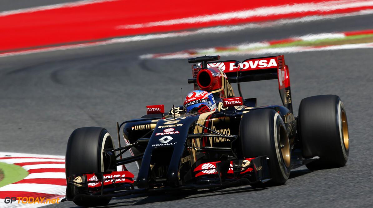 Circuit de Catalunya, Barcelona, Spain. Friday 9 May 2014. Romain Grosjean, Lotus E22 Renault. Photo: Charles Coates/Lotus F1 Team. ref: Digital Image _N7T7484      f1 formula 1 formula one gp grand prix Action