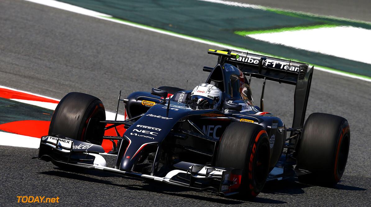 Spanish GP Friday 09/05/14  Giedo Van der Garde (NL), Sauber F1 Team. Circuit de Barcelona-Catalunya.  Spanish GP Friday 09/05/14  Jean-Francois Galeron Barcelona Spain  F1 Formula One 2014 action VanderGarde Sauber