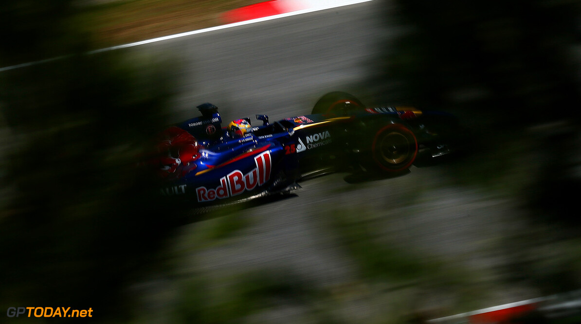 MONTMELO, SPAIN - MAY 09:  Jean-Eric Vergne of France and Scuderia Toro Rosso drives during practice ahead of the Spanish F1 Grand Prix at Circuit de Catalunya on May 9, 2014 in Montmelo, Spain.  (Photo by Clive Mason/Getty Images) *** Local Caption *** Jean-Eric Vergne Spanish F1 Grand Prix - Practice Clive Mason Montmelo Spain  Formula One Racing formula 1 Auto Racing Spain F1 Grand Prix Spanish Formula One Grand Prix Formula One Grand Prix Barcelona