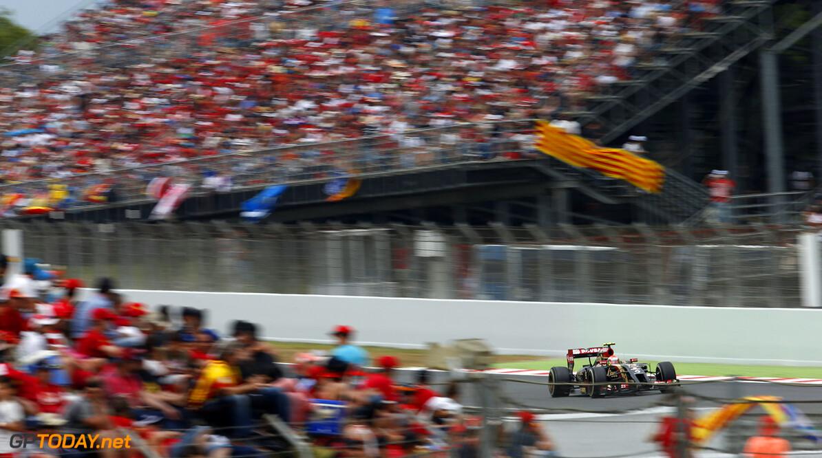Circuit de Catalunya, Barcelona, Spain. Sunday 11 May 2014. Pastor Maldonado, Lotus E22 Renault. Photo: Charles Coatesr/Lotus F1 Team. ref: Digital Image _J5R3876      f1 formula 1 formula one gp grand prix Action