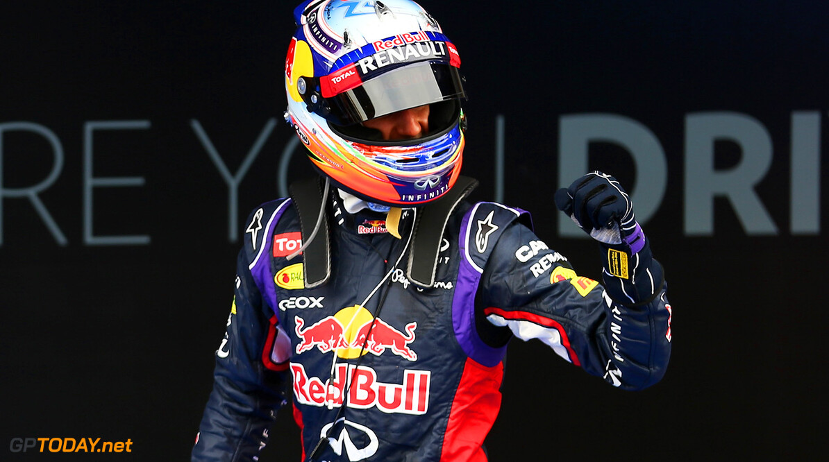 MONTMELO, SPAIN - MAY 11:  Daniel Ricciardo of Australia and Infiniti Red Bull Racing celebrates after the Spanish Formula One Grand Prix at Circuit de Catalunya on May 11, 2014 in Montmelo, Spain.  (Photo by Mark Thompson/Getty Images) *** Local Caption *** Daniel Ricciardo Spanish F1 Grand Prix - Race Mark Thompson Montmelo Spain  Formula One Racing formula 1 Auto Racing Spain F1 Grand Prix Spanish Formula One Grand Prix Formula One Grand Prix Barcelona Race