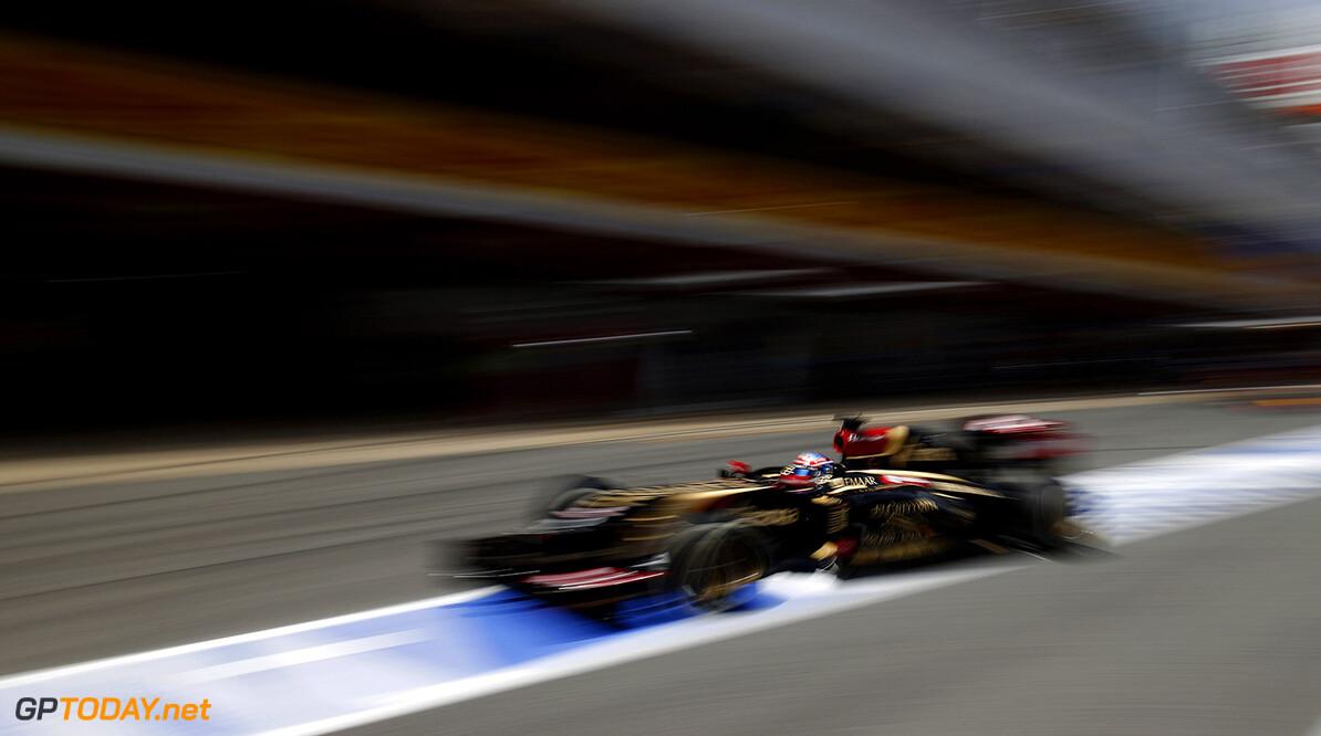 Circuit de Catalunya, Barcelona, Spain. Saturday 10 May 2014. Romain Grosjean, Lotus E22 Renault. Photo: Glenn Dunbar/Lotus F1 Team. ref: Digital Image _89P5419      f1 formula 1 formula one gp grand prix Action