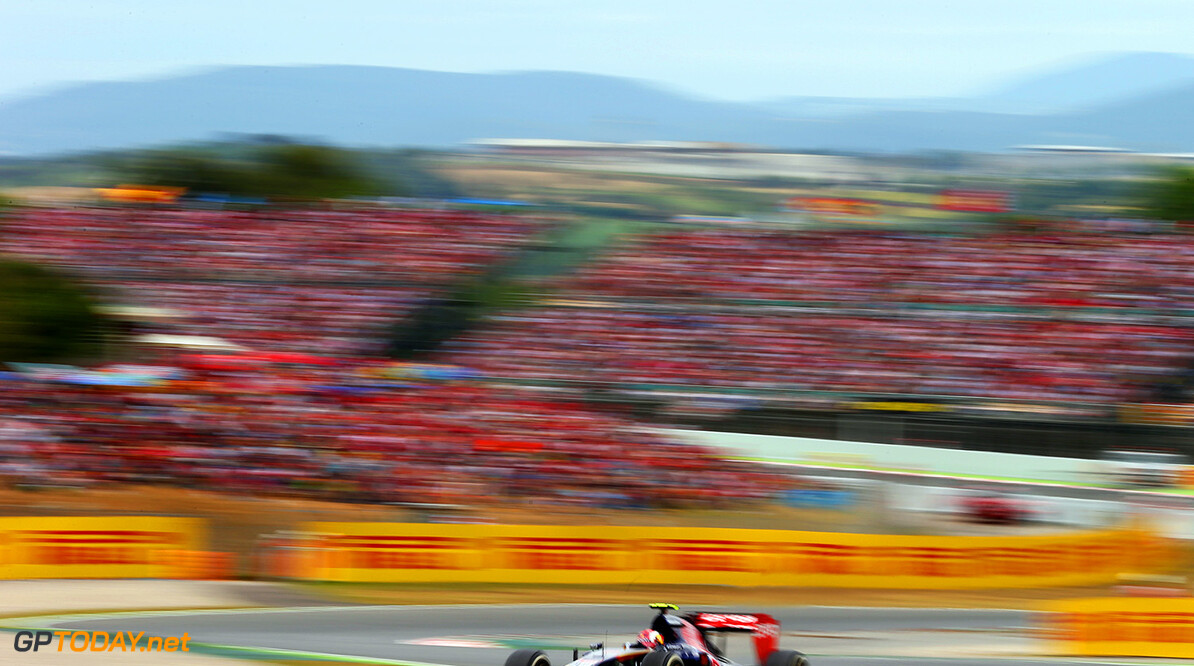 MONTMELO, SPAIN - MAY 11:  Daniil Kvyat of Russia and Scuderia Toro Rosso drives during the Spanish Formula One Grand Prix at Circuit de Catalunya on May 11, 2014 in Montmelo, Spain.  (Photo by Mark Thompson/Getty Images) *** Local Caption *** Daniil Kvyat Spanish F1 Grand Prix - Race Mark Thompson Montmelo Spain  Formula One Racing formula 1 Auto Racing Spain F1 Grand Prix Spanish Formula One Grand Prix Formula One Grand Prix Barcelona Race