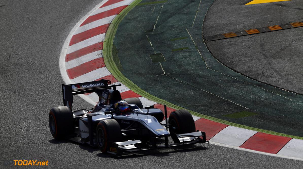 2014 GP2 Series Round 2 - Race 2. Circuit de Catalunya, Barcelona, Spain. Sunday 11 May 2014. Mitch Evans (NZL, RT RUSSIAN TIME)  Photo: Sam Bloxham/GP2 Series Media Service. ref: Digital Image _SBL7837   Sam Bloxham