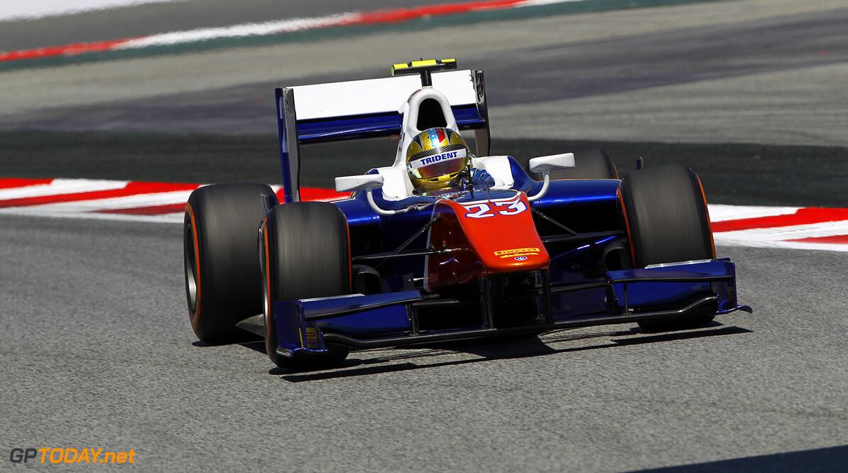 2014 GP2 Series Round 2 - Practice. Circuit de Catalunya, Barcelona, Spain. Friday 9 May 2014. Johnny Cecotto (VEN, Trident)  Photo: Sam Bloxham/GP2 Series Media Service. ref: Digital Image _G7C3992   Sam Bloxham
