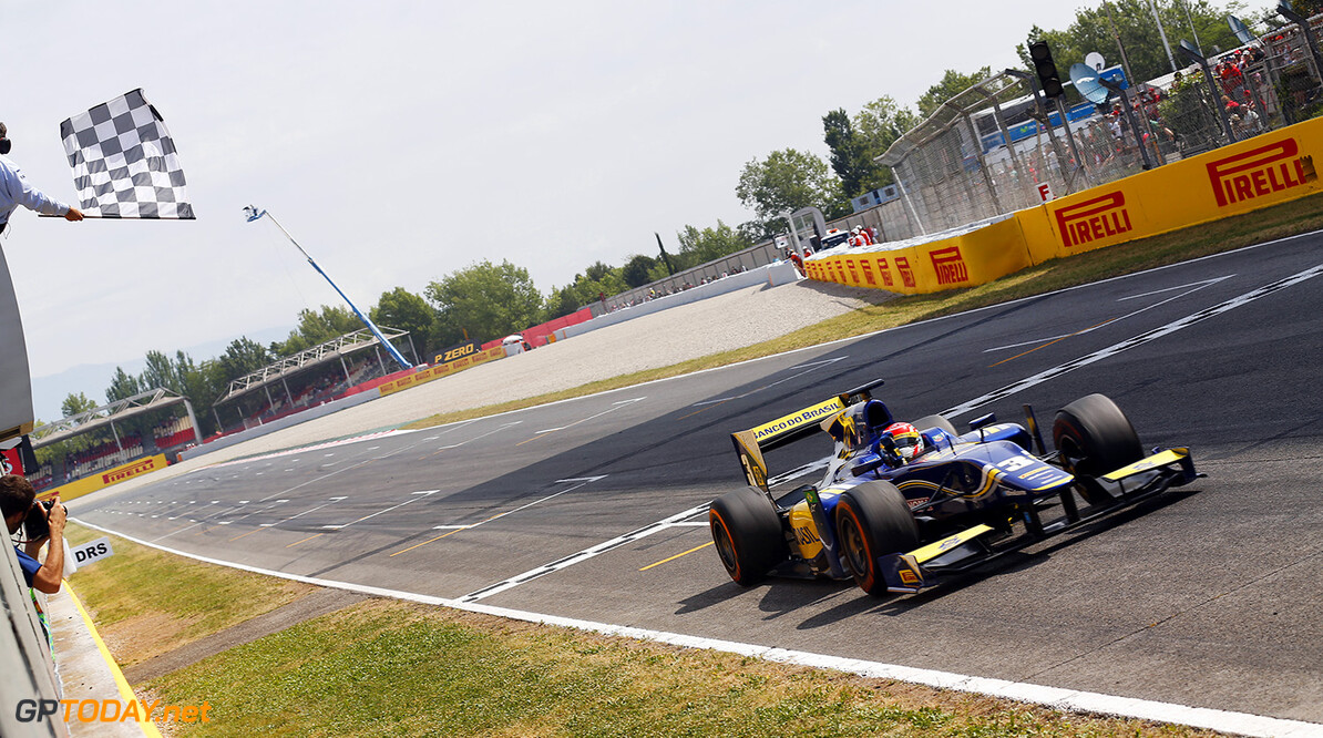 2014 GP2 Series Round 2 - Race 2. Circuit de Catalunya, Barcelona, Spain. Sunday 11 May 2014. Felipe Nasr (BRA, Carlin)  Photo: Sam Bloxham/GP2 Series Media Service. ref: Digital Image _SBL8085   Sam Bloxham