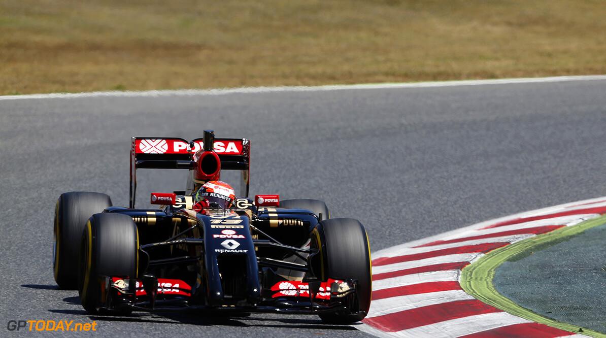 Circuit de Catalunya, Barcelona, Spain. Wednesday 14 May 2014. World Copyright: Sam Bloxham/Lotus F1. ref: Digital Image _SBL0173  Sam Bloxham    f1 formula 1 formula one testing test Action