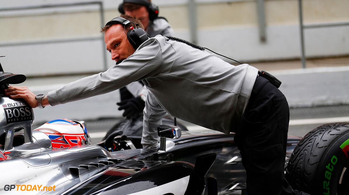 Circuit de Catalunya, Barcelona, Spain. Tuesday 13 May 2014. Jenson Button, McLaren. World Copyright: Sam Bloxham/LAT Photographic. ref: Digital Image _SBL9569  Sam Bloxham    f1 formula 1 formula one testing test Portrait