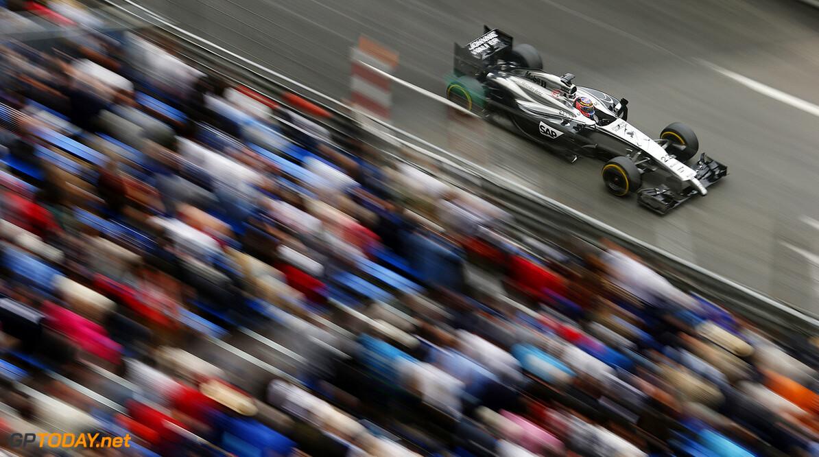 Jenson Button on track.
