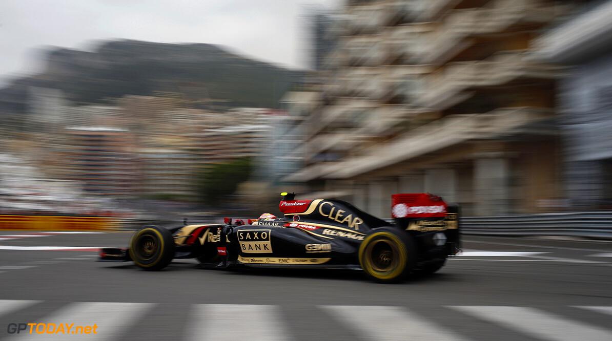 Monte Carlo, Monaco. Thursday 22 May 2014. Pastor Maldonado, Lotus E22 Renault. Photo: Glenn Dunbar/Lotus F1 Team. ref: Digital Image _W2Q9204      f1 formula 1 formula one gp grand prix Action