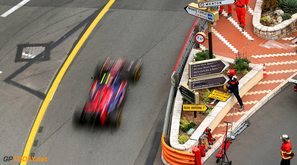MONTE-CARLO, MONACO - MAY 22:  Daniil Kvyat of Russia and Scuderia Toro Rosso drives during practice ahead of the Monaco Formula One Grand Prix at Circuit de Monaco on May 22, 2014 in Monte-Carlo, Monaco.  (Photo by Mark Thompson/Getty Images) *** Local Caption *** Daniil Kvyat F1 Grand Prix of Monaco - Practice Mark Thompson Monte-Carlo Monaco  Formula One Racing formula 1 Auto Racing Formula One Grand Prix Monaco GP Monaco Formula One Grand Prix
