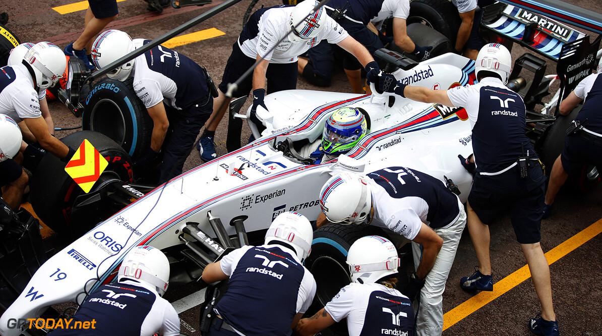 Monte Carlo, Monaco. Thursday 22 May 2014. Felipe Massa, Williams FW36 Mercedes, in the pits. Photo: Glenn Dunbar/Williams F1. ref: Digital Image _89P8536      f1 formula 1 formula one gp grand prix Action Pit Stops