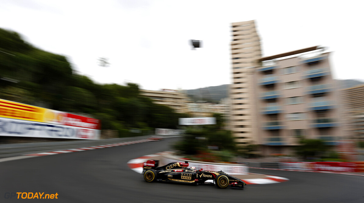 Monte Carlo, Monaco. Thursday 22 May 2014. Romain Grosjean, Lotus E22 Renault. Photo: Andrew Ferraro/Lotus F1 Team. ref: Digital Image _FER1026      f1 formula 1 formula one gp grand prix Action