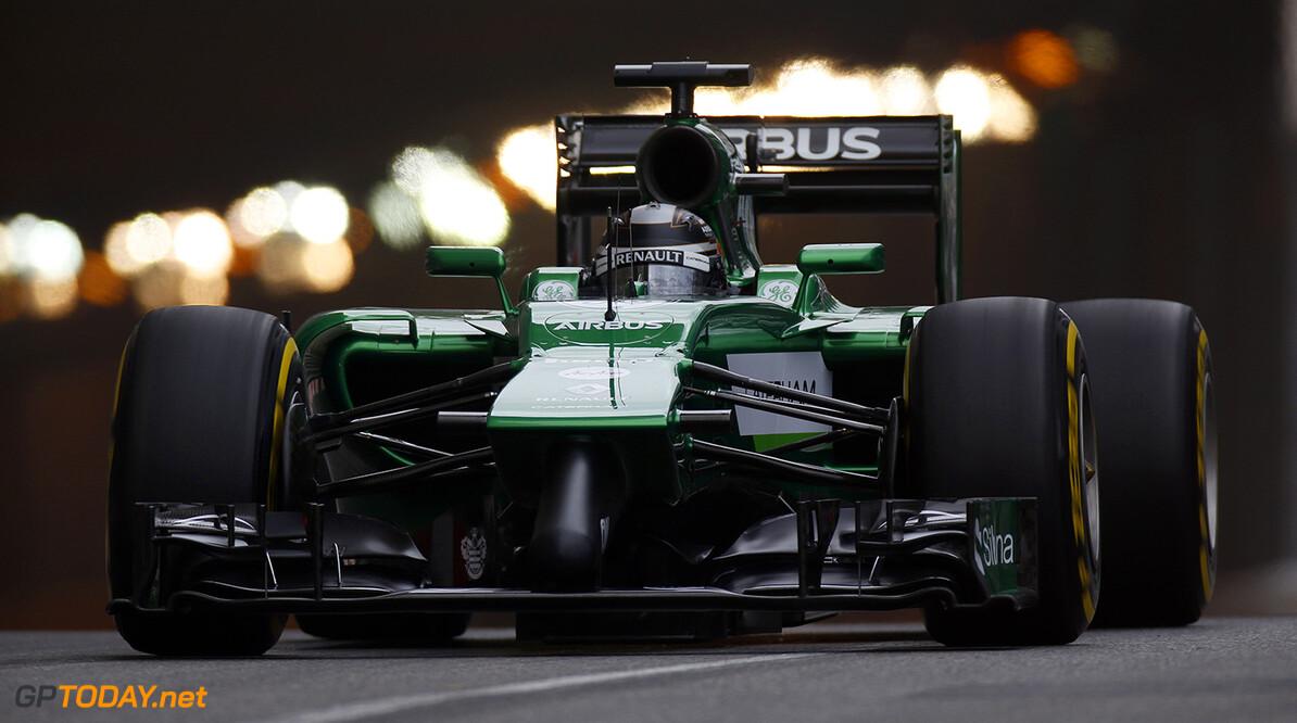 Monte Carlo, Monaco. Thursday 22 May 2014. Kamui Kobayashi, Caterham CT05 Renault.  World Copyright: Glenn Dunbar/LAT Photographic. ref: Digital Image _89P7347      f1 formula 1 formula one gp mco monegasque