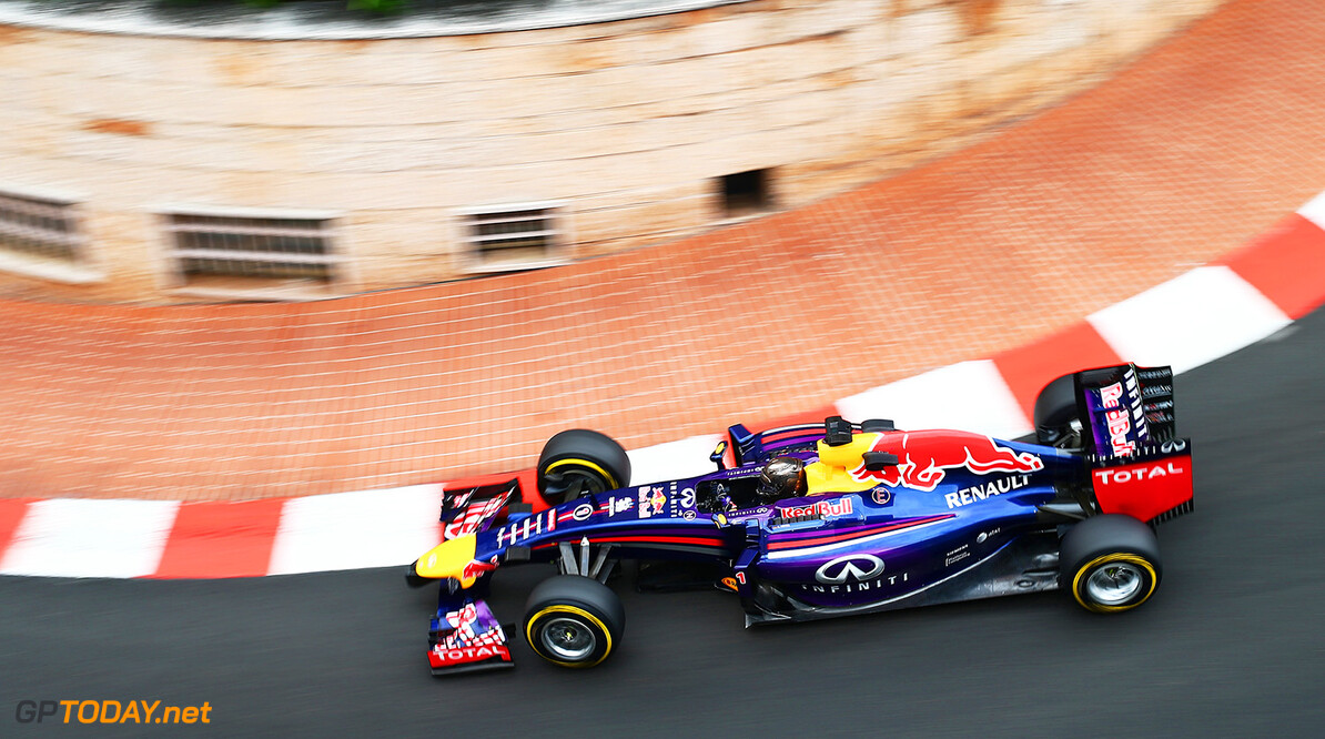 MONTE-CARLO, MONACO - MAY 22:  Sebastian Vettel of Germany and Infiniti Red Bull Racing drives during practice ahead of the Monaco Formula One Grand Prix at Circuit de Monaco on May 22, 2014 in Monte-Carlo, Monaco.  (Photo by Clive Mason/Getty Images) *** Local Caption *** Sebastian Vettel F1 Grand Prix of Monaco - Practice Clive Mason Monte-Carlo Monaco  Formula One Racing formula 1 Auto Racing Formula One Grand Prix Monaco GP Monaco Formula One Grand Prix