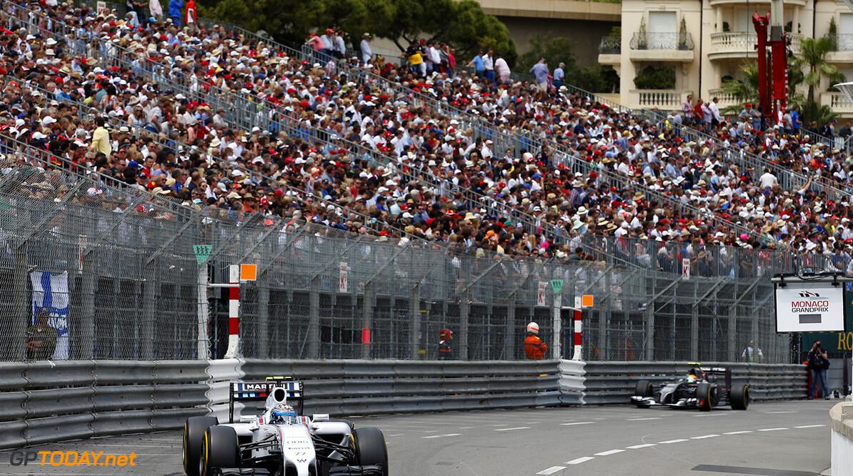 Monte Carlo, Monaco. Sunday 25 May 2014. Valterri Bottas, Williams FW36 Mercedes. Photo: Glenn Dunbar/Williams F1. ref: Digital Image _89P0243  Glenn Dunbar    f1 formula 1 formula one gp grand prix Action