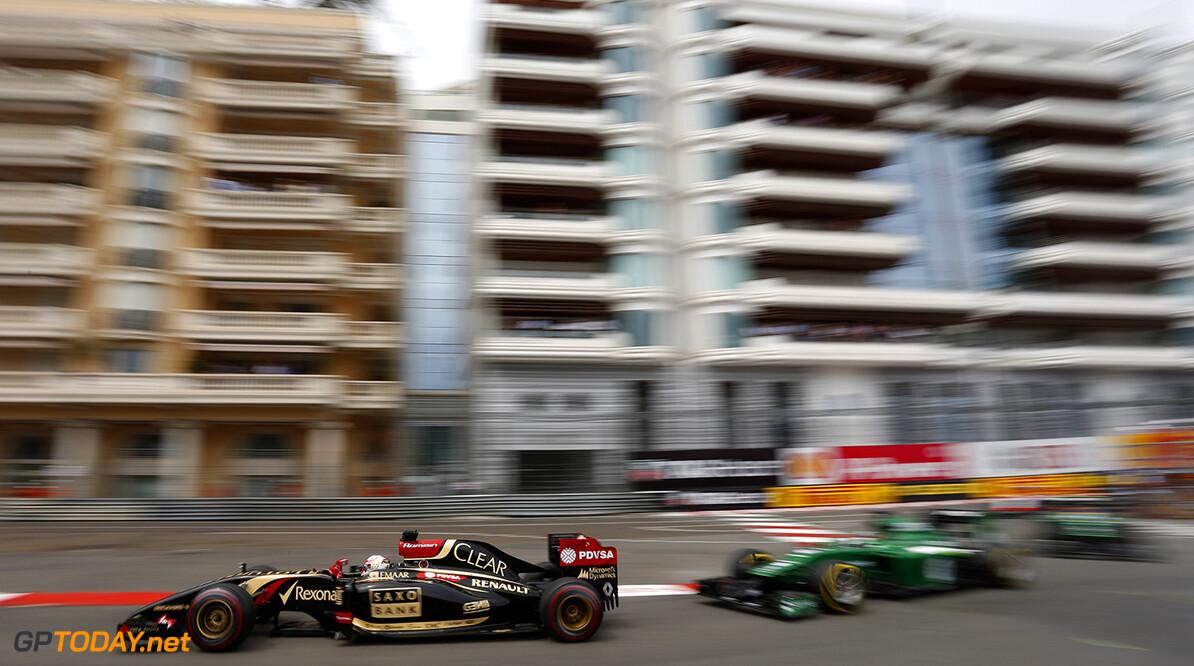 Monte Carlo, Monaco. Sunday 25 May 2014. Romain Grosjean, Lotus E22 Renault. Photo: Andrew Ferraro/Lotus F1 Team. ref: Digital Image _FER6696      f1 formula 1 formula one gp grand prix Action