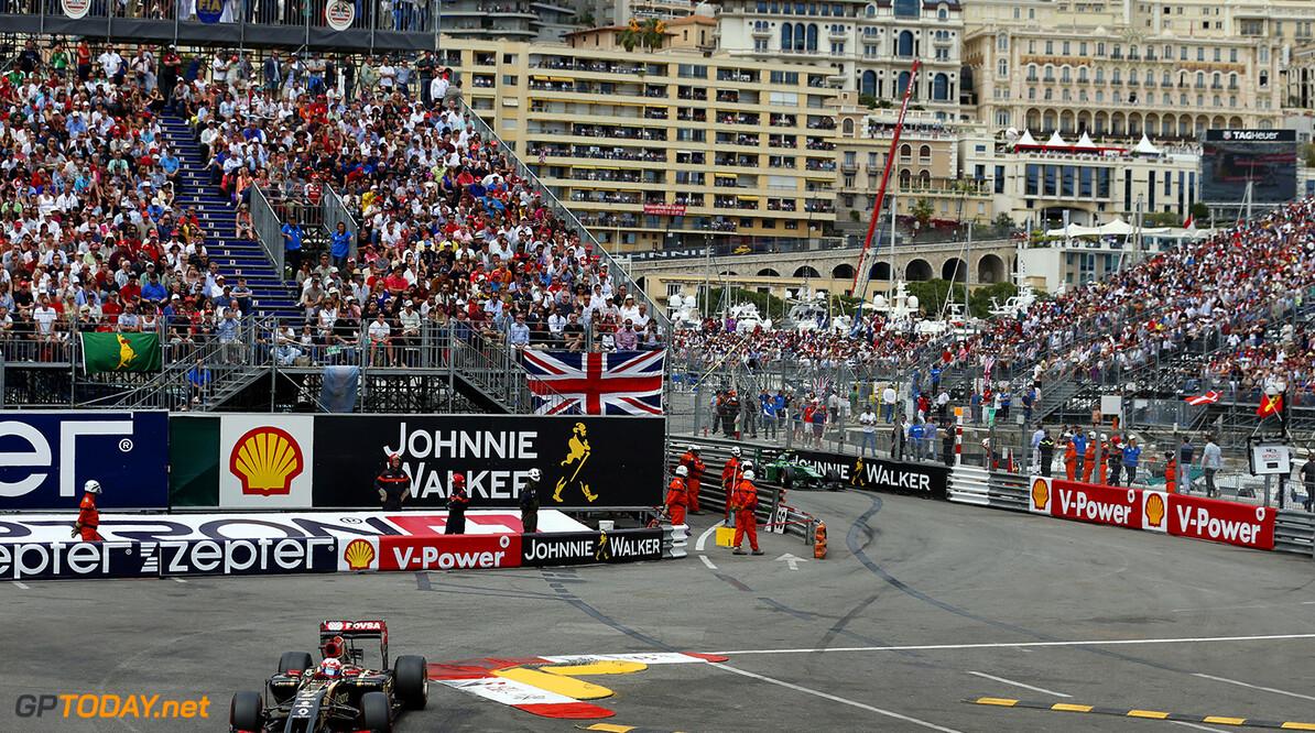 Monte Carlo, Monaco. Sunday 25 May 2014. Romain Grosjean, Lotus E22 Renault. Photo: Steven Tee/Lotus F1 Team. ref: Digital Image _L0U0587  Steven Tee    f1 formula 1 formula one gp grand prix Action